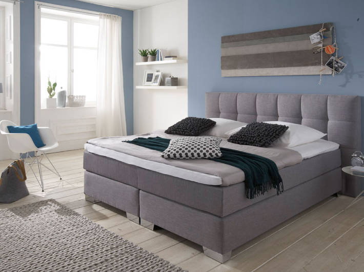 boxspringbett basic 1000 boxspringbetten traum. Black Bedroom Furniture Sets. Home Design Ideas